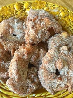 We still had many apples left from our apple picking weekend, so I decided to try my hand at making apple fritters - decadent! They were a success, look for recipe posted in recipes section!